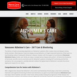 Vancouver Alzheimer's Care – Around the Clock Care At Home