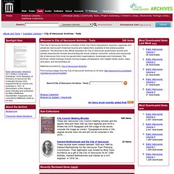 City of Vancouver Archives - Texts : Free Texts