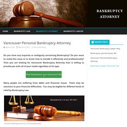 Vancouver Bankruptcy Attorney