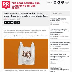 Vancouver market uses embarrassing plastic bags to promote going plastic-free