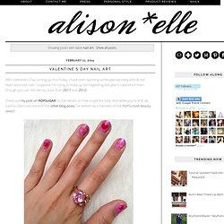 alison*elle: nail art