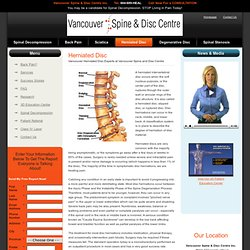 Vancouver Herniated Disc Experts at Vancouver Spine and Disc Centre