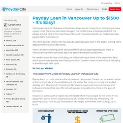 Vancouver Payday Loans - Cash Advance Up To $1500