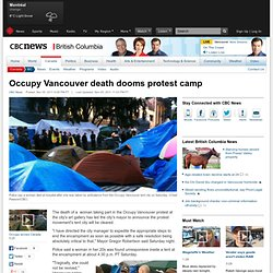 Occupy Vancouver death dooms protest camp - British Columbia