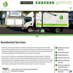 Residential Garbage Removal in Vancouver