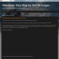 Vancouver Data Blog by Neil McGuigan: Web scraping with Google Spreadsheets and XPath