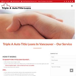 Procure Auto Title Loans in Vancouver