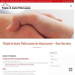 Procure Auto Title Loans in Vancouver