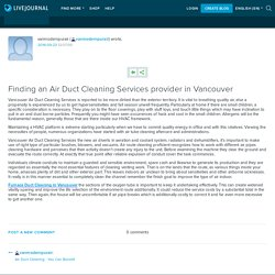 Finding an Air Duct Cleaning Services provider in Vancouver: vanmodernpurair