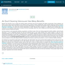 Air Duct Cleaning Vancouver Has Many Benefits: vanmodernpurair