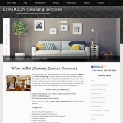 Move in/out cleaning services at Cleaning Services Vancouver