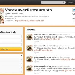 VancouverRestaurants (restaurantsvan) on Twitter