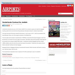 The Airport Industry online, the latest airport industry news