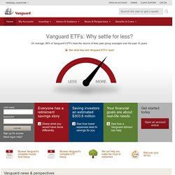 Vanguard: Helping you reach your investing goals