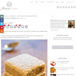 Vanilla Bean Caramel Blondies