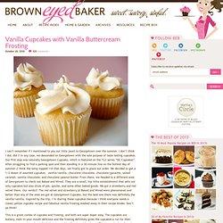 Vanilla Cupcake Recipe with Vanilla Buttercream Frosting Recipe