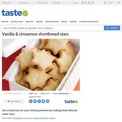 Vanilla & Cinnamon Shortbread Stars Recipe