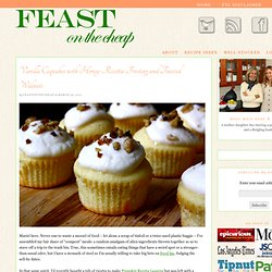 Vanilla Cupcakes with Honey-Ricotta Frosting and Toasted Walnuts