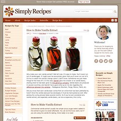 Vanilla Extract Recipe, How to Make Vanilla Extract