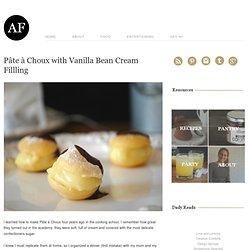 Pâte à Choux with Vanilla Bean Cream Fillling