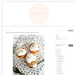 Vanilla and Lavender Muffins with Honey Yoghurt Icing (Gluten-Free)