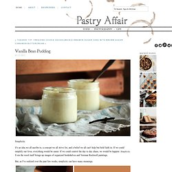 The Pastry Affair - Home - Vanilla Bean&Pudding