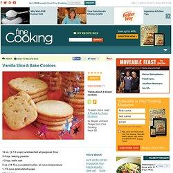 Vanilla Slice & Bake Cookies