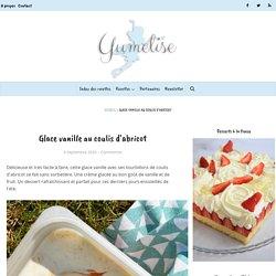 Glace vanille au coulis d'abricot - recette sans sorbetière