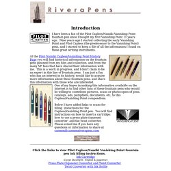 Pilot Namiki Vanishing Point Capless Fountain Pen History Page