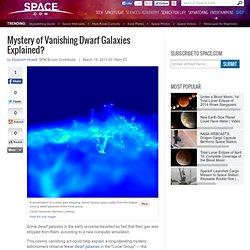 Mystery of Vanishing Dwarf Galaxies Explained?