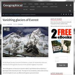 Vanishing glaciers of Everest