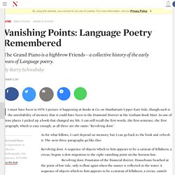 language poetry remembered