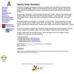Vanity Node Numbers
