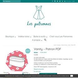 Vanity - Patron PDF - Les patronnes