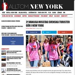 21 vanliga misstag svenska turister gör i New York