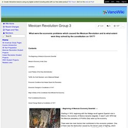 VanoWiki - Mexican Revolution Group 3