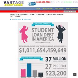 Private & Federal Student Loan Debt Consolidation and Settlement - VantageAcceptance