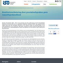 Kwaliteitsverbetering door prestatieafspraken geen vanzelfsprekendheid - Interstedelijk Studenten Overleg - Vertegenwoordigt studerend Nederland