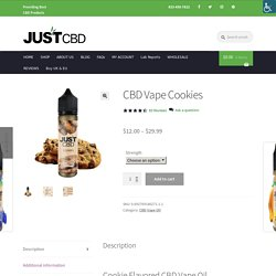 CBD Vape Oil - Cookies Vape Flavor - JustCBD