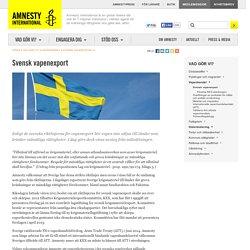 Svensk vapenexport Vapenhandel Mänskliga rättigheter Amnesty
