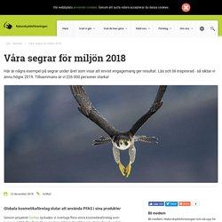 Våra segrar för miljön 2018