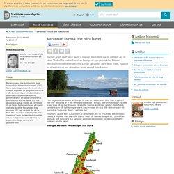 Varannan svensk bor nära havet