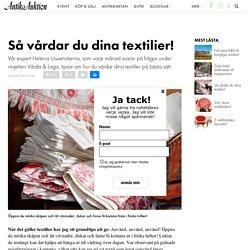Så vårdar du dina textilier!