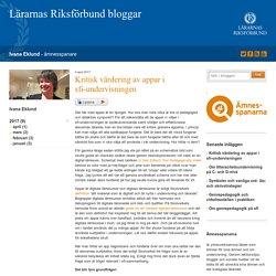 Kritisk värdering av appar i sfi-undervisningen - Ivana Eklund