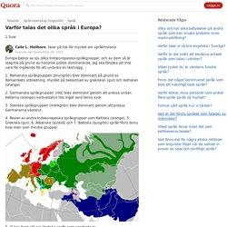 Varför talas det olika språk i Europa? - Quora