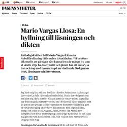 Mario Vargas Llosa: En hyllning till läsningen och dikten