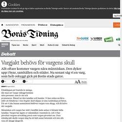 Vargjakt behövs för vargens skull - Borås Tidning