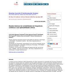 Noções básicas de variabilidade da frequência cardíaca e sua aplicabilidade clínica