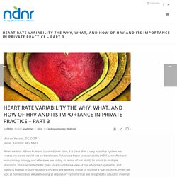 Heart Rate Variability The Why, What, and How of HRV and Its Importance in Private Practice – Part 3 – Naturopathic Doctor News and Review