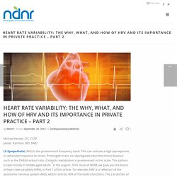 Heart Rate Variability: The Why, What, and How of HRV and Its Importance in Private Practice – Part 2 – Naturopathic Doctor News and Review